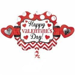 HEART MARQUEE HAPPY VALENTINE'S DAY SHAPE P35 PKT