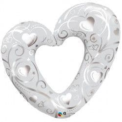 "HEARTS & FILIGREE PEARL WHITE 42"" SHAPE GROUP C PKT"