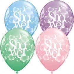 """HEAVENLY BABY SHOWER 11"""" PASTEL ASSORTED (25CT)"""