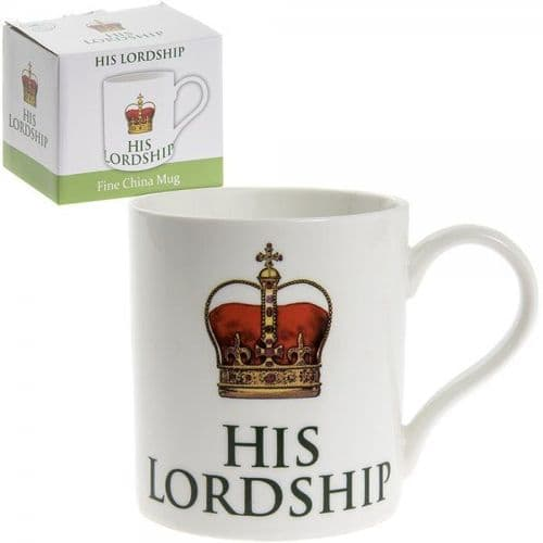 His Lordship Fine China Mug gift