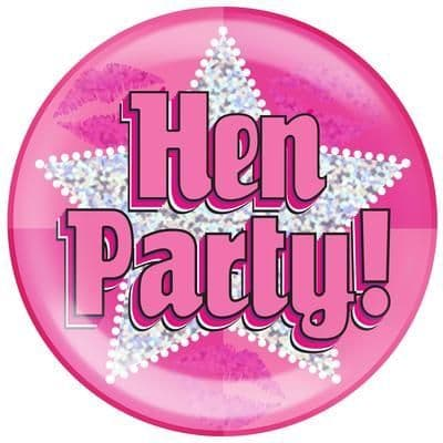 Holographic Jumbo Badge - Hen Party