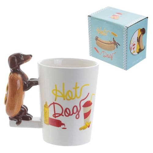 Hot Dog Handle Mug Gift