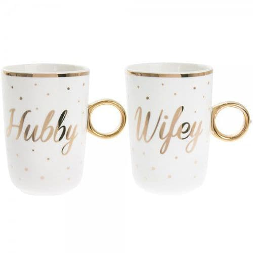 Hubby / Wifey Mugs Set Of 2 gift