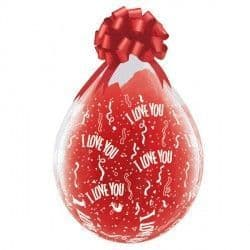 """I LOVE YOU-A-ROUND 18"""" DIAMOND CLEAR (25CT) Stuffing Balloons"""
