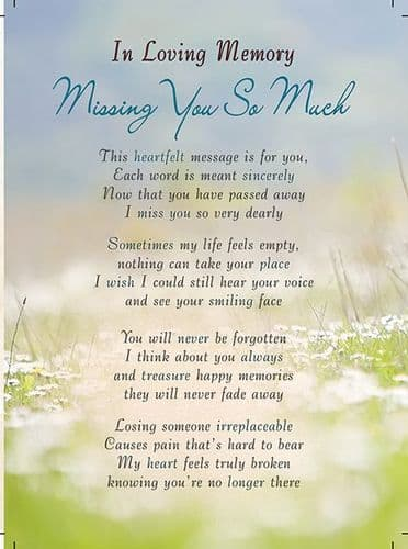 In Loving Memory Missing You So Much