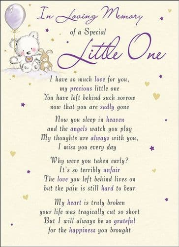 In Loving Memory Of A Special Little ONe