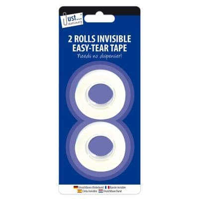 Invisible Easy Tear Tape 2 18mm x 33m rolls
