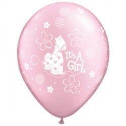 """IT'S A GIRL SOFT PONY 11"""" PEARL PINK (25CT)"""