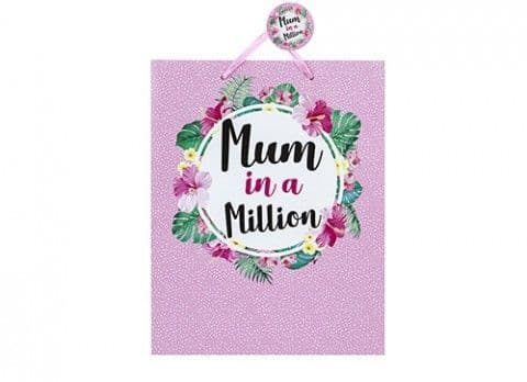 LARGE MUM IN A MILLION GIFT BAG 26.5 X 33 X 14CM