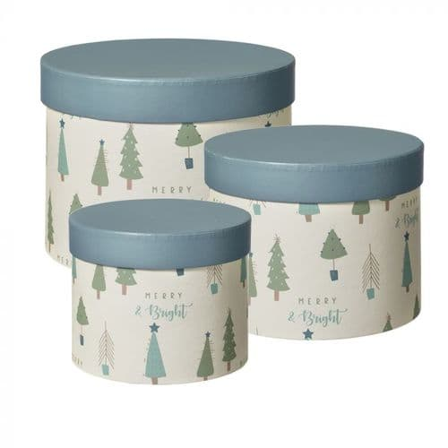 Lonesome Pine Lined Hat Boxes - Set of 3