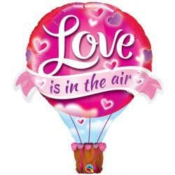 """LOVE IS IN THE AIR BALLOON 42"""" SHAPE GROUP B PKT"""