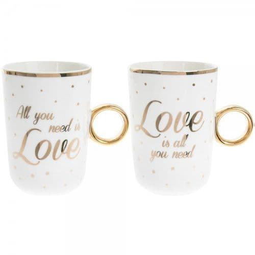 Love Mugs Set Of 2 gift