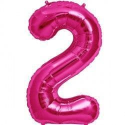"MAGENTA NUMBER 2 SHAPE 16"" PKT"