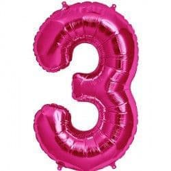 "MAGENTA NUMBER 3 SHAPE 16"" PKT"