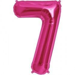 "MAGENTA NUMBER 7 SHAPE 16"" PKT"