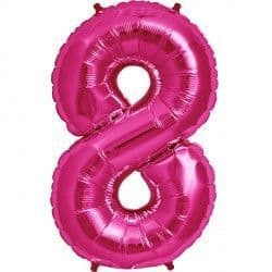 "MAGENTA NUMBER 8 SHAPE 16"" PKT"