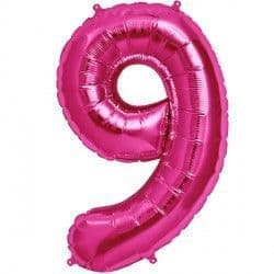 "MAGENTA NUMBER 9 SHAPE 16"" PKT"