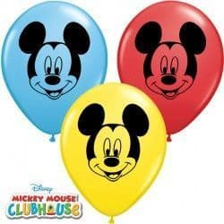 """MICKEY MOUSE FACE 5"""" RED, YELLOW & PALE BLUE (100CT)"""