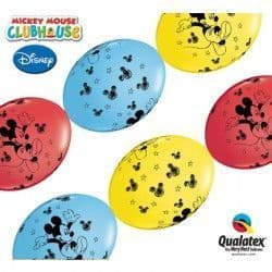 """MICKEY MOUSE QUICK LINK 12"""" RED, YELLOW & PALE BLUE (50CT)"""
