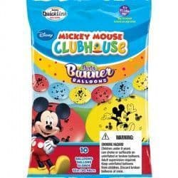 """MICKEY MOUSE QUICK LINK PARTY BANNERS 12"""" (10CT)"""