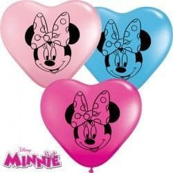 """MINNIE MOUSE FACES 6"""" WILD BERRY, YELLOW, PALE BLUE & PINK (100CT)"""