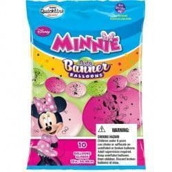 """MINNIE MOUSE QUICK LINK PARTY BANNERS 12"""" (10CT)"""