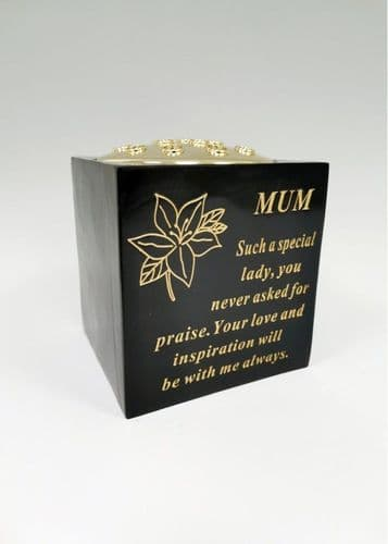Mum black and gold rose bowl with gold insert.
