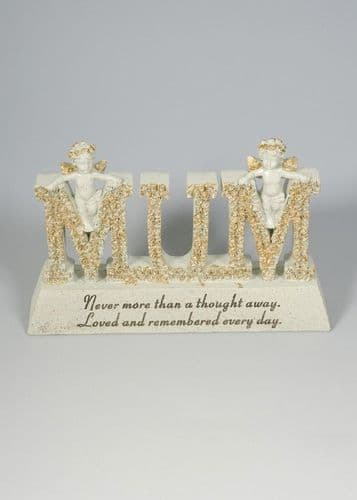 MUM - CREAM & GOLD LETTER