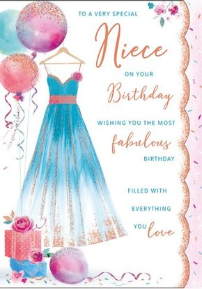 Niece birthday panache code 90 x 6 cards