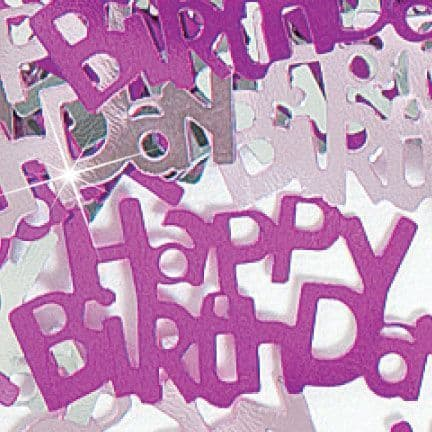 PINK HAPPY BIRTHDAY .5 OZ. FOIL AGE CONFETTI