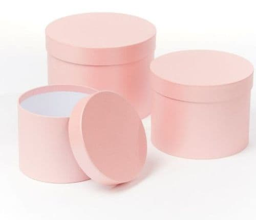 Pink Symphony Hat Boxes (Lined) - Set of 3