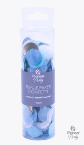 Pioneer Party Blue, White & Gold Tissue Confetti 18g