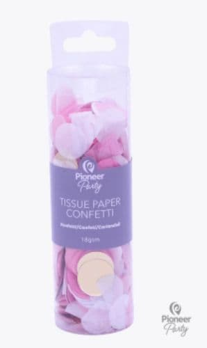 Pioneer Party Pink, White & Gold Tissue Confetti 18g