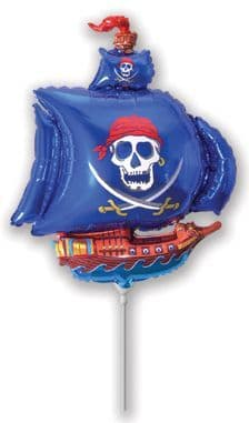 """Pirate Ship 14"""" airfill comes flat no stick"""