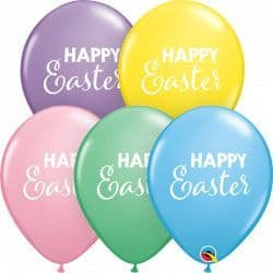 "Qualatex 11"" Pastel Assortment Simply Happy Easter 25ct"