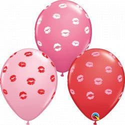 "Qualatex 11"" Special Assorted Kissy Lips 25ct"