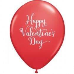 "Qualatex 11"" Valentine's Day Script  Red 25ct"