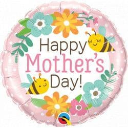 """Qualatex 18"""" Bees & Flowers Mother's Day Packaged"""