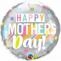 """Qualatex 18"""" Big Pastel Dots Mother's Day Packaged"""