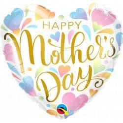 """Qualatex 18"""" Pastel Hearts Mother's Day Packaged"""