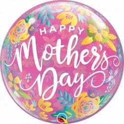 """Qualatex 22"""" Single Bubble COLOURFUL FLORAL MOTHER'S DAY Packaged"""