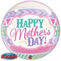 """Qualatex 22"""" Single Bubble DOTS & STRIPES MOTHER'S DAY"""