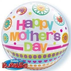 """Qualatex Dots & Patterns MOTHER'S DAY 22"""" SINGLE BUBBLE"""