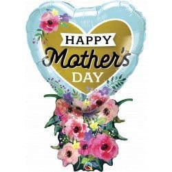 """Qualatex Group B 34"""" Hear5 Bouquet Mother's Day Packaged"""