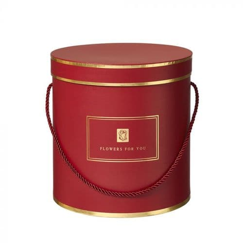 RED Hamilton Lined Hat Boxes - Set of 3