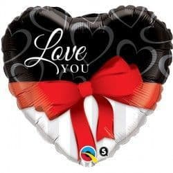 "RED RIBBONS LOVE YOU 36"" JUMBO PKT"