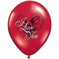 "RED ROSE I LOVE YOU 11"" RUBY RED (25CT)"