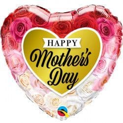 """ROSES GOLD HEART MOTHER'S DAY 18"""" PKT"""