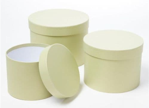 Sage Green Symphony Hat Boxes (Lined) - Set of 3