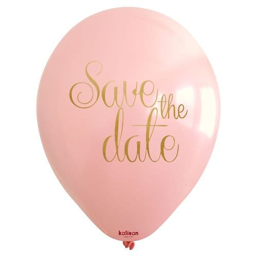 Save The Date Printed Latex Balloon (25ct)